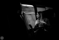 ...train reflection...