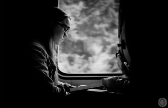 ...reading lady...