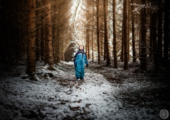 ...fearless astronaut in the woods...