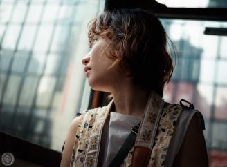 ...girl in the tram...