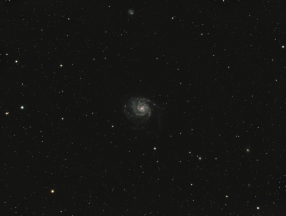 M101, pinwheel galaxy, 22 million lightyears away, exposure 1 hour & 12 minutes...