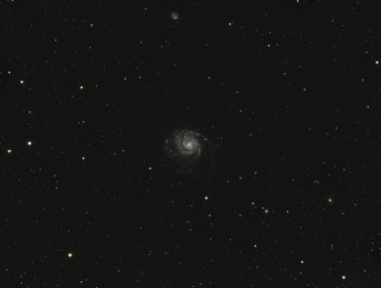 M101, pinwheel galaxy, 22 million lightyears away, exposure 1 hour & 12 minutes...