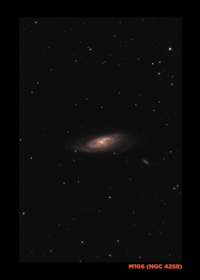 M106, the oyster galaxy...