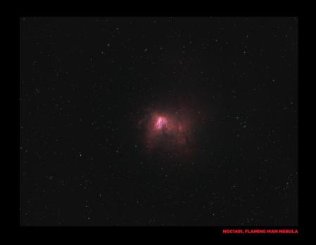 NGC1491, Flaming man in space