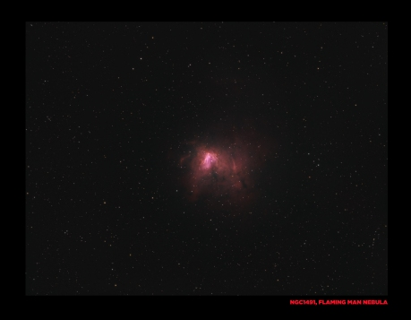 NGC1491, Flaming man in space